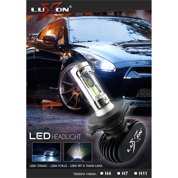 2 Pcs Headlight / Lampu Depan Led Mobil Luxon H4 - 4000Lm