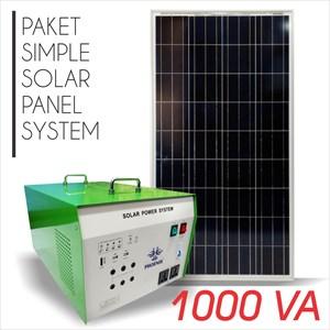 Paket Panel Tenaga Surya / Solar Panel System 160Wp + Power Inverter 1000 Va. Price : Call