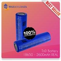 Baterai Imr 18650 3.7V Tnd 2600Mah 20A - Untuk Vapor-Senter-Powerbank Authentic-Garansi