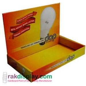 Rak Promosi Bola Lampu By PT  Prima Indo Grafika