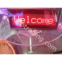 Running Text Display Portable (Nametag Digital Portable)