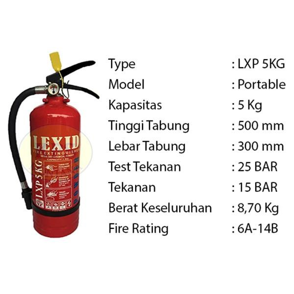 Pemadam Api Lxp05 5Kg