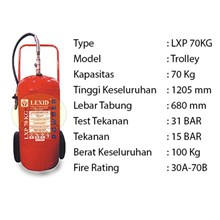 Pemadam Api Lexid Lxp 700 70Kg Trolley