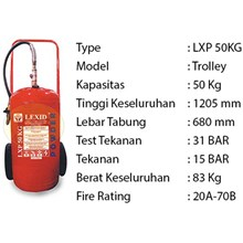 Pemadam Api Lexid Lxp 500 50Kg Trolley