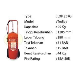 Pemadam Api Lexid Lxp 250 25Kg Trolley