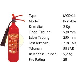 Pemadam Api Lexid Lxcd02 2Kg Co2