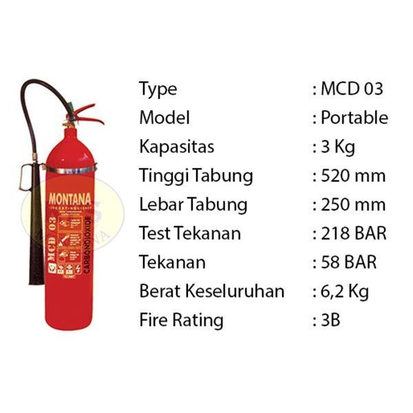 Pemadam Api Lexid Lxcd 03 3Kg Co2