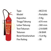 Pemadam Api Lexid Lxcd 05 5Kg Co2
