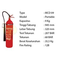Pemadam Api Lexid Lxcd 09 9Kg Co2