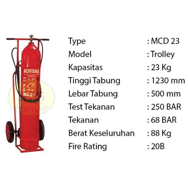 Pemadam Api Lexid Lxcd 230 23Kg Co2 Trolley