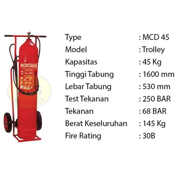 Pemadam Api Lexid Lxcd 450 45Kg Co2 Trolley