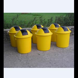 Tempat Sampah Model Bulat