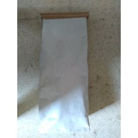 Kantong Paper Bag Arang warna  Putih
