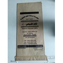 Kantong kertas  paper bag arang 2 Kg dengan inner plastik