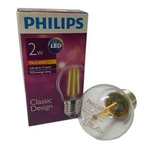 Bohlam LEDclassic Philips P45 2W E27 Non DIM