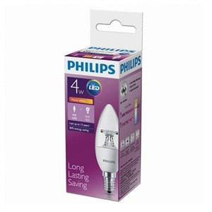 Lampu LEDBulb Philips 4-25W B35 CL E14 2700K