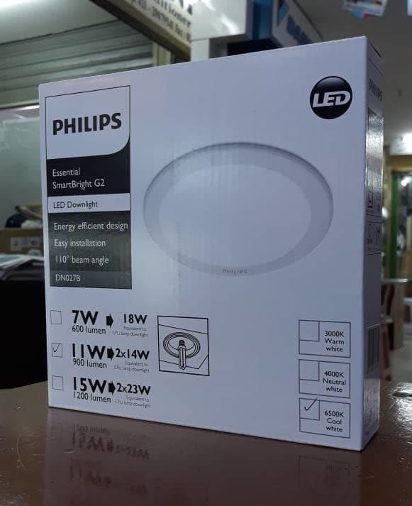 """Jual Lampu Downlight Philips DN027B 5"""" 11W LED9 CW/NW/WW"""