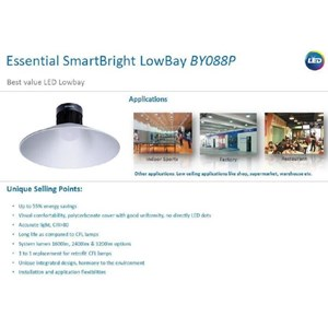 Low Bay Light PHILIPS SmartBright LED BY088P 40W OL - 3200lm - Cool White