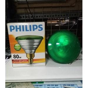 Lampu PAR38 PHILIPS PARTYTONE 80W Green - Lampu Sorot warna HIJAU
