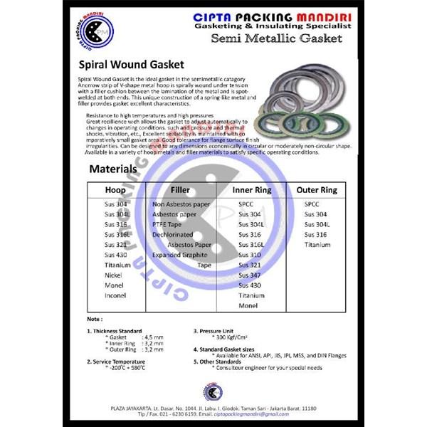 SPIRAL WOUND GASKET TYPE INNER RING WA 081283632731