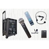 Jual Sound System Portable Wireless Speaker Amplifier Auderpro Ap-909Pa Dvd Usb Kaset Trolly Suara Bagus Garansi 1 Tahun 2