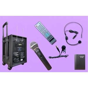 Sound System Portable Wireless Speaker Amplifier Auderpro Ap-909Pa Dvd Usb Kaset Trolly Suara Bagus Garansi 1 Tahun