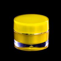 Acrylic Round Jar Yellow 10Gr LGC 1001-1