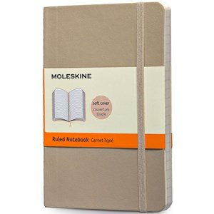 Moleskine Notebook Ruled Soft Cover K.Beige P Qp611g4
