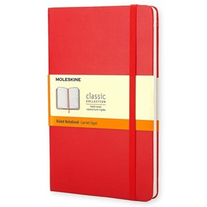 Moleskine Notebook Ruled Hc Red L Qp060rf