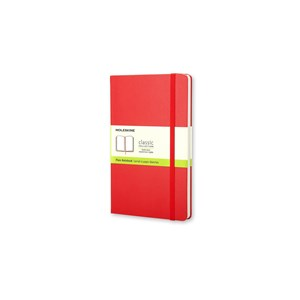 Moleskine Notebook Plain Hard Cover Red L Qp062rf