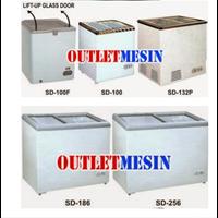 Mesin Sliding Flat Glass Freezer 1