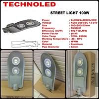 lampu jalan LED technoled 100w pju 1