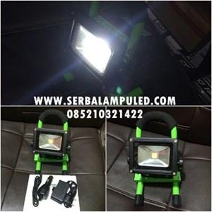 lampu sorot emergency portable 10w