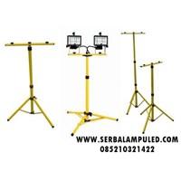 Jual Tiang Lampu Sorot LED Kuning Portable