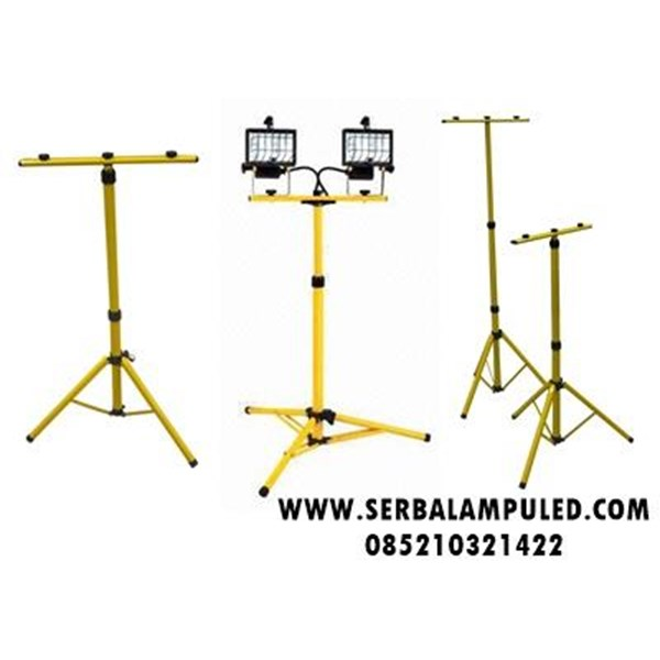 Tiang Lampu Sorot LED Kuning Portable