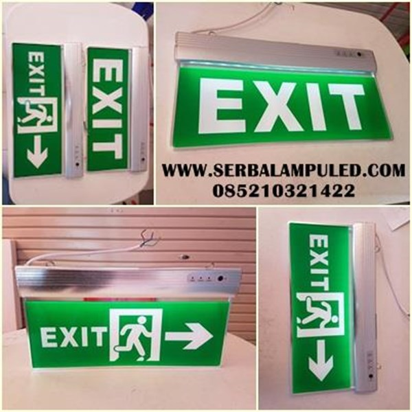 lampu Emergency EXIT bahan akrilik