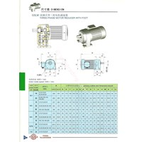 G3lm 3Phase Motor Reducer Dengan Foot
