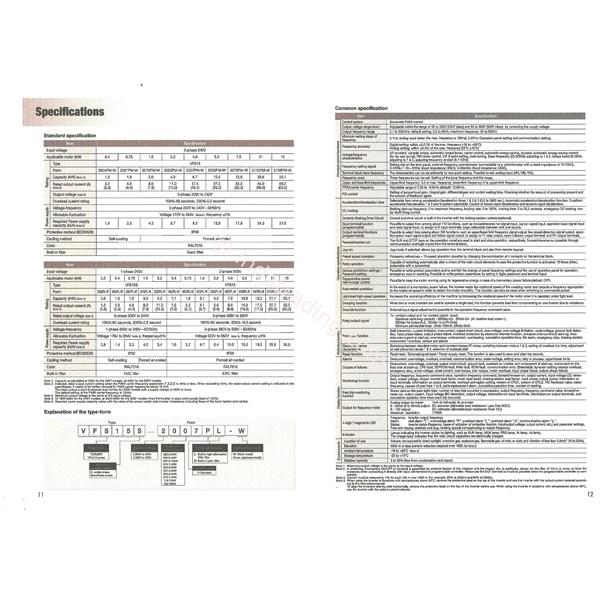 Inverter Toshiba Type Vfs15