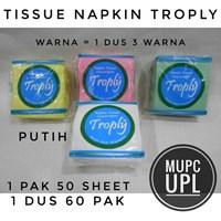 Jual Tissue Wajah Napkin Troply Warna & Putih