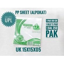 Plastik PP SHEET ALPOKAT UK 15X15X05