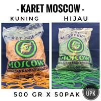 KARET GELANG MOSCOW KUNING DAN HIJAU 500 GRAM