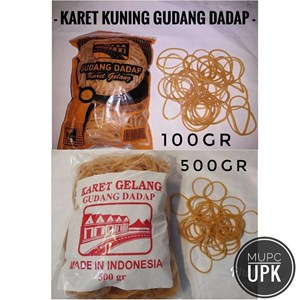 RUBBER YELLOW BRACELET DADAP 500 AND 100 GRAM