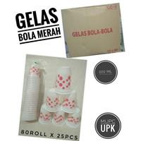GELAS BOLA MERAH