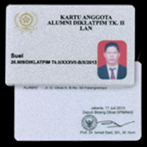 Cetak id card silver metalik