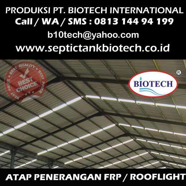 Jual Rooflight Atap Fibreglass Transparan Harga Murah