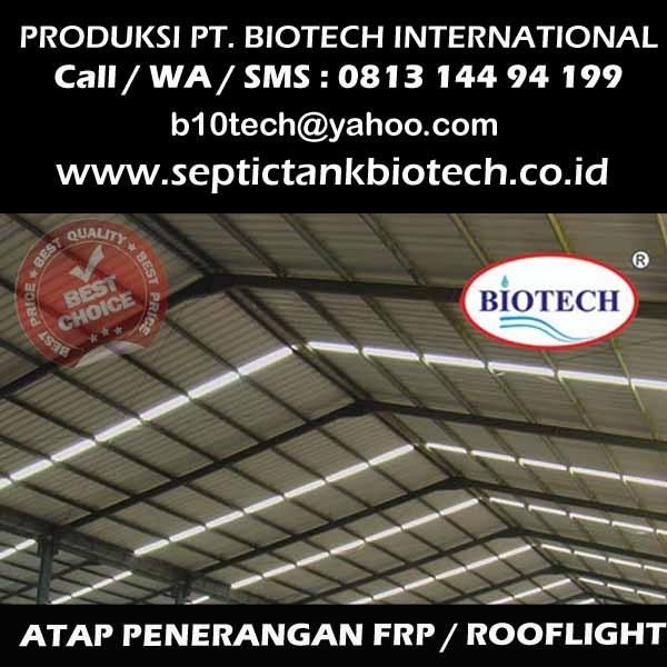 Atap Fibreglass atau Rooflight