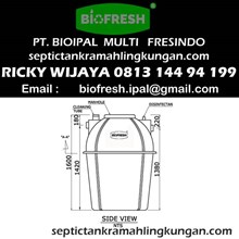 Ukuran Septic Tank Biotech BT 12