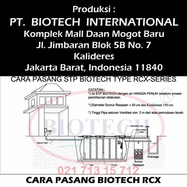 How to Put Septic Tank Biotech RCX series