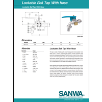 Distributor BALL VALVE LOCKABLE 3