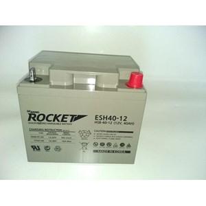Dari Baterai Kering Rocket Es 40H-12 12V 40 Ah Made In Korea Asli- Aki Accu Garansi Resmi 2